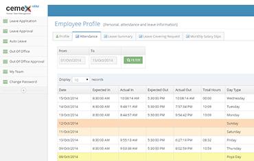 Employee Self Service Software | CEMEX HRM Sri Lanka